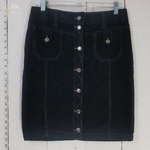 Free People corduroy button up midi skirt size 6
